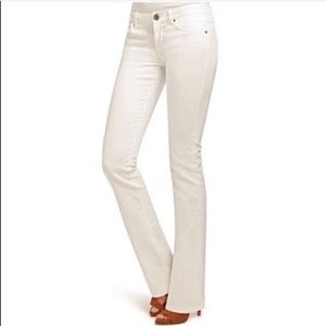CAbi wide leg white jeans